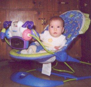 Sadie sitting up - September 2